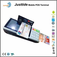high quality debit card machine with printing invoice 58m for supermarket