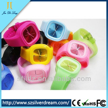 Promotional Digital With Waterproof And Mix Colors Cheap Geneva Jelly Watches
