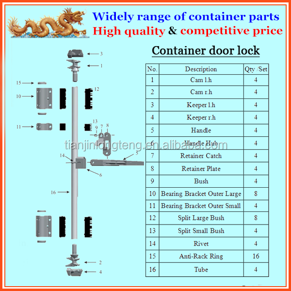 Hot dip galvanized cargo container locks