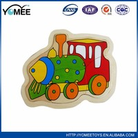 2016 Hot Sale Product Kids Intelligent Wooden vehicle puzzle play set