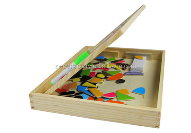 Popular study mangetic double-sided drawing board puzzle child toy