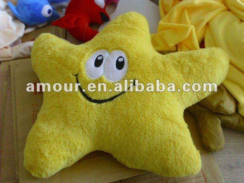 Hot selling!smiling yellow stars pillow plush stuffed Super Mario Bros soft toys wholesale kids gift