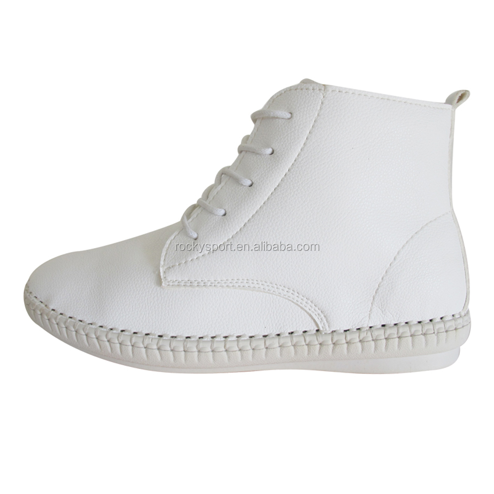 nurse shoes with mark thread high top lady shoes