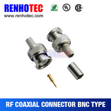 RG174 RG179 Crimp Male Bnc Cable Connector