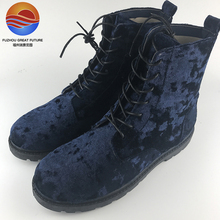 New Arrival Microfiber Fabric Comfortable Lace-up Casual Women Boots