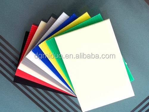 Supply 2-7mm thickness PP hollow sheet polypropylene corrugated board