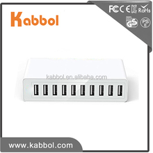 High Speed 50Watt 10 Port multi charger station usb multiple charger for Smart Phone, Tablet, Power Bank