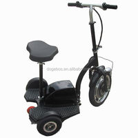 350w/500w 3 wheel cargo trike scooter with removable seat