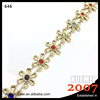 Hot Crystal Applique Flower Shape Plastic