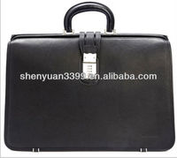 genuine cowhide leather bag breifcase for men