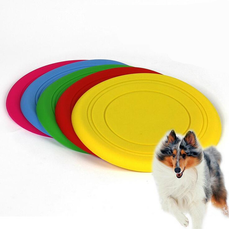 Funny Pet Dog Toy Silicone Flying Disc Tooth Resistant Play Frisbee Tide Training Equipment Toys Dog Playing Toys