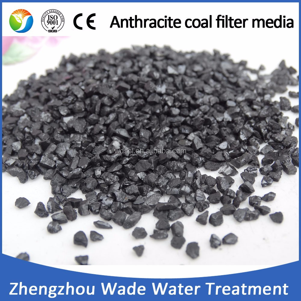 High carbon content water filter media anthracite coal fines price