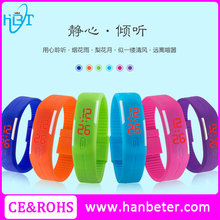 Quality cheap rubber bracelet watch touch screen digital waterproof silicone led watch 13 colors