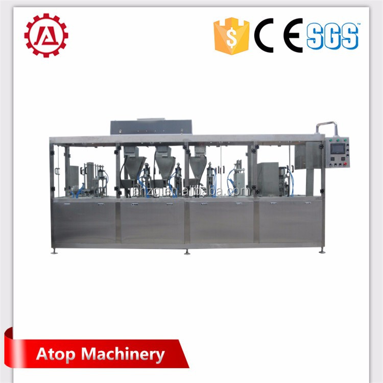 fully automatic and high quality silicone coffee cup filling and sealing machine