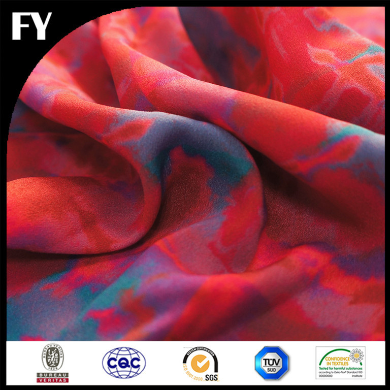2016 Summer hot sale digital print polyester tricot warp knitted fabric