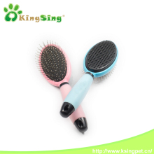 Double Sides Sticky Hair Dog Combs and Brushes with Silica gel handle, Pet Grooming Brush for Dogs & Cats