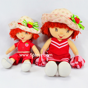 Pretty plush little girl doll washable little girl love doll with hat cute plush baby girl toy for gift