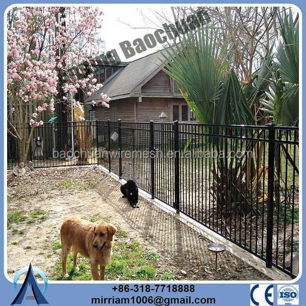 galvanized steel picket fence/free standing fence panel/color steel fence panel