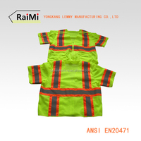 ANSI Class3 polyester removeable sleeve reflective safety chaleco vest the tactical vest