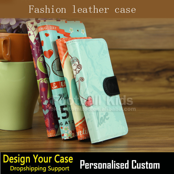 mobile phone leather case flip cover wallet case for samsung iPhone 5 flip case