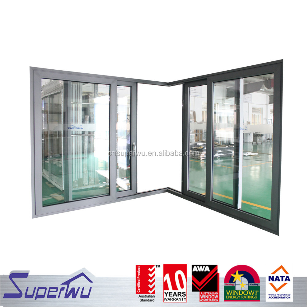 Top Quality precision ball bearing roller/guide system Aluminum Lift and Sliding Door with Germany Hardware