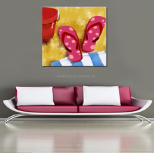 Pink slippers Print Painting on canvas wholesale print oil painting for home decoration