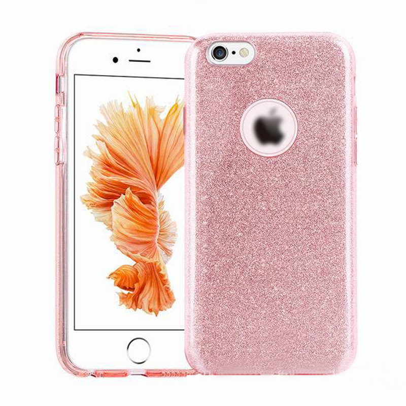 Luxury sparkle 3 IN 1 Bling Bling Glitter Back Cover Case For iPhone 7 7Plus