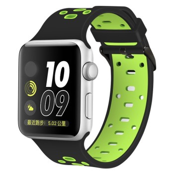 Silicone Double Color For Apple Watch Band,For Apple Watch Strap