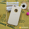 Luxury Leather Back Case+ Metal Aluminum Bumper Cover for iPhone 5/5S/6/6 Plus