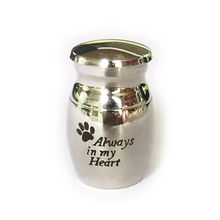 Stainless steel custom printing memory words dog pet keepsake cremation urn for ash