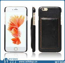 Phone Back Cover Leather Wallet Case for iPhone 6 with Card Slot