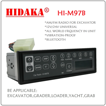 New Product 12V-24V Car Excavator Radio with Bluetooth