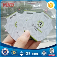 MDPC072 Plastic Hole Punched Printed Die Cut Card/Irregular PVC Membership Cards