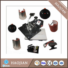 heat transfer machine for t-shirt, mug , plate, hat/high quality 8 in 1 combo heat press machine