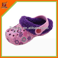Winter warmly printed eva clogs