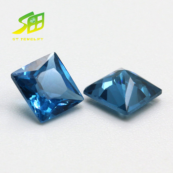 Gorgeous 4*4mm SQ 32# Synthetic Sapphire