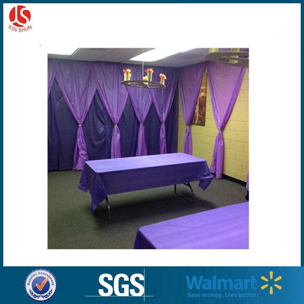 Wholesale plastic PE/PEVA custom printed table cover/ table cloth PEVA Tablecloth, 54x108 Inches