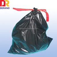 China Platic!! HDPE and LDPE custom cheap plastic transparent garbage bags with drawstring