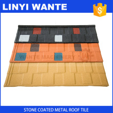 Professional Wholesale Roof Glazing Shingle Sheets Natural Stone Chip Coated Metal Tiles with certificate
