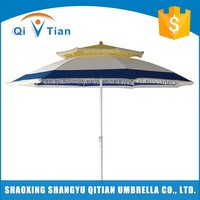 New design hot selling polyester silver plastic coating pool garden umbrella