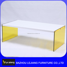 new design home furniture mdf glass coffee table center table