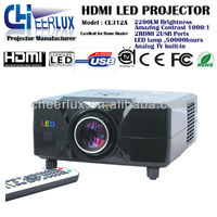 led tv projector 1080p 3D 2200lumens for play station&xbox one