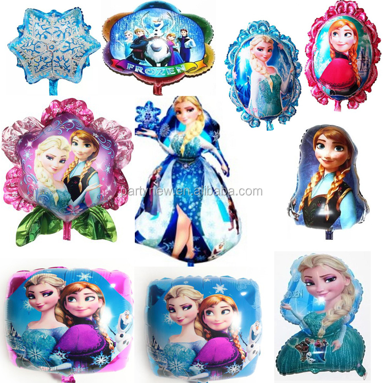 Most popular Anna elsa frozen cartoon character helium balloons for kids birthday party decoration foil balloon