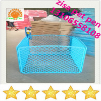 white pink blue orange red color plastic dog crate play pen with door cheap price