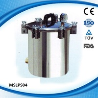 Cheap Price Portable pressure steam sterilizer with aluminum MSLPS04D