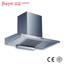 T type curved glass ceiling-mounted kitchen hood/ self venting range hood/ cooker hood JY-HT9004