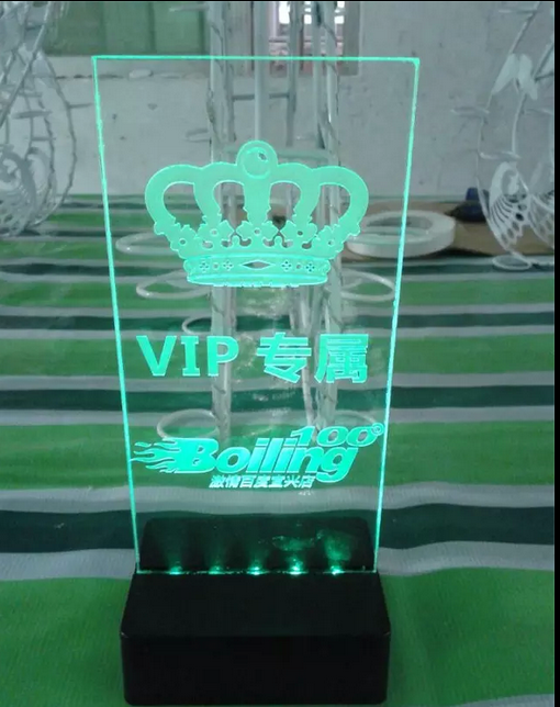 VIP Led lighting acrylic sign holder