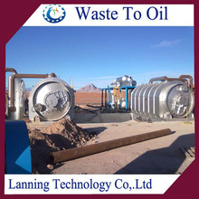 high efficiency free pollution waste tyre recycling machine with high oil quality