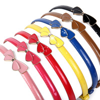 Fine Leather Belts For Women Bow