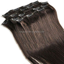 Wholesale 100% real natural virgin best remy human hair ombre straight and curly clip in hair extension